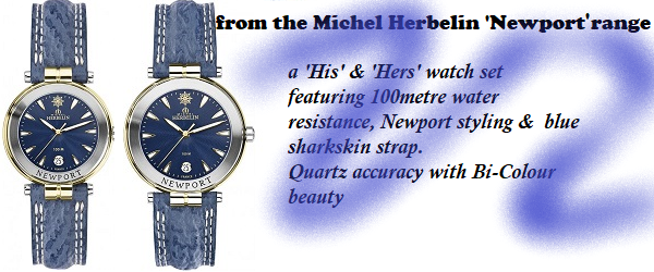 'His' & 'Hers' Michel Herbelin Newport Strap watches