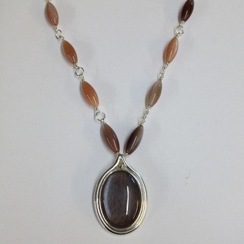 68542 handmade pendant set with moonstone in
