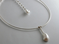 66553 - Mabe Pearl Pendant on Cable