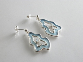66629 - Sterling Silver Rockpool Drop Earrings