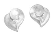 66485 - Heart Stud  Earrings in Sterling Silver