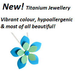 Vibrant coloured Titanium Jewellery