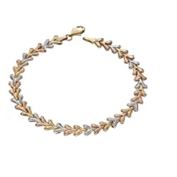 £283 9ct Gold Multi-coloured Bracelet