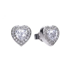 £89 Diamonfire CZ Heart stud earrings