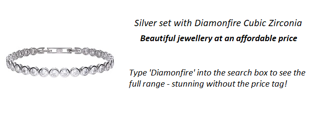 Diamonfire-CZ cut to Diamond beauty set in silver