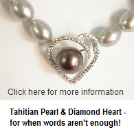 £780 Tahitian Pearl & Diamond Heart Necklet
