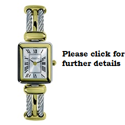£425 Steel & Yellow Gold Cable Bangle watch
