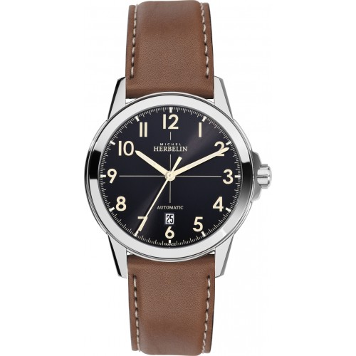 69615 - Michel Herbelin Large sized Ambassador Automatic Watch on strap