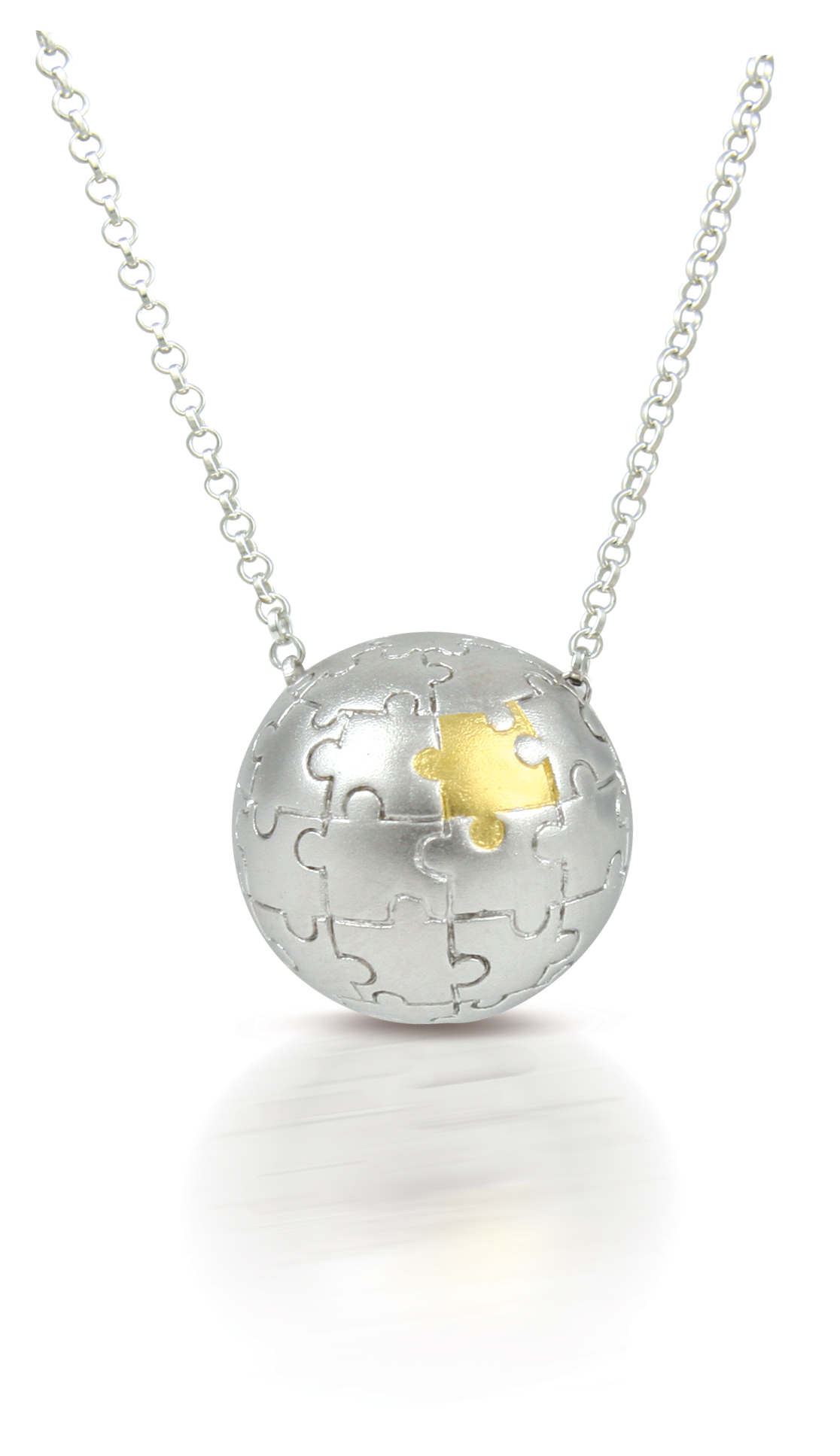65691 - Sphere of Life 'My Missing Piece' Pendant in Sterling Silver