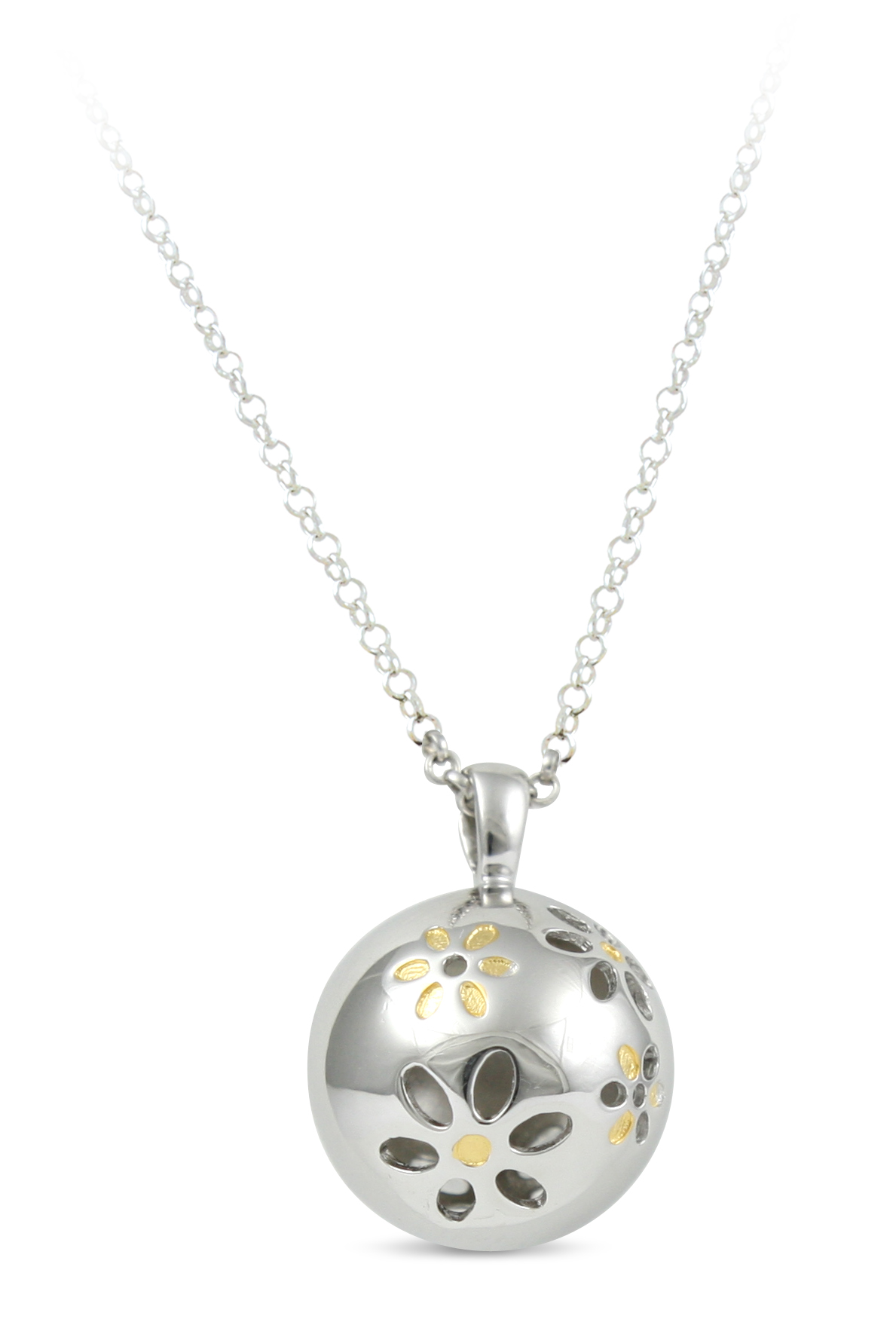 65701 - Sphere of Life 'Wild at Heart' Pendant in Sterling Silver