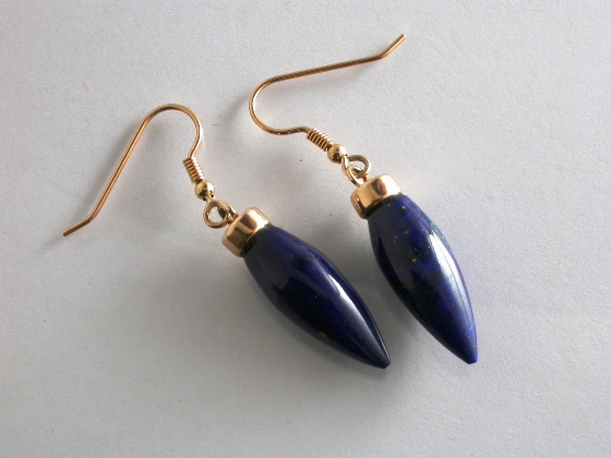 65058 - Lapis Lazuli Drop Earrings in 9ct Gold