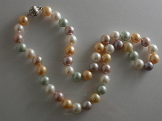 67227 - Dyed Multi-Coloured Freshwater Cultured Pearls