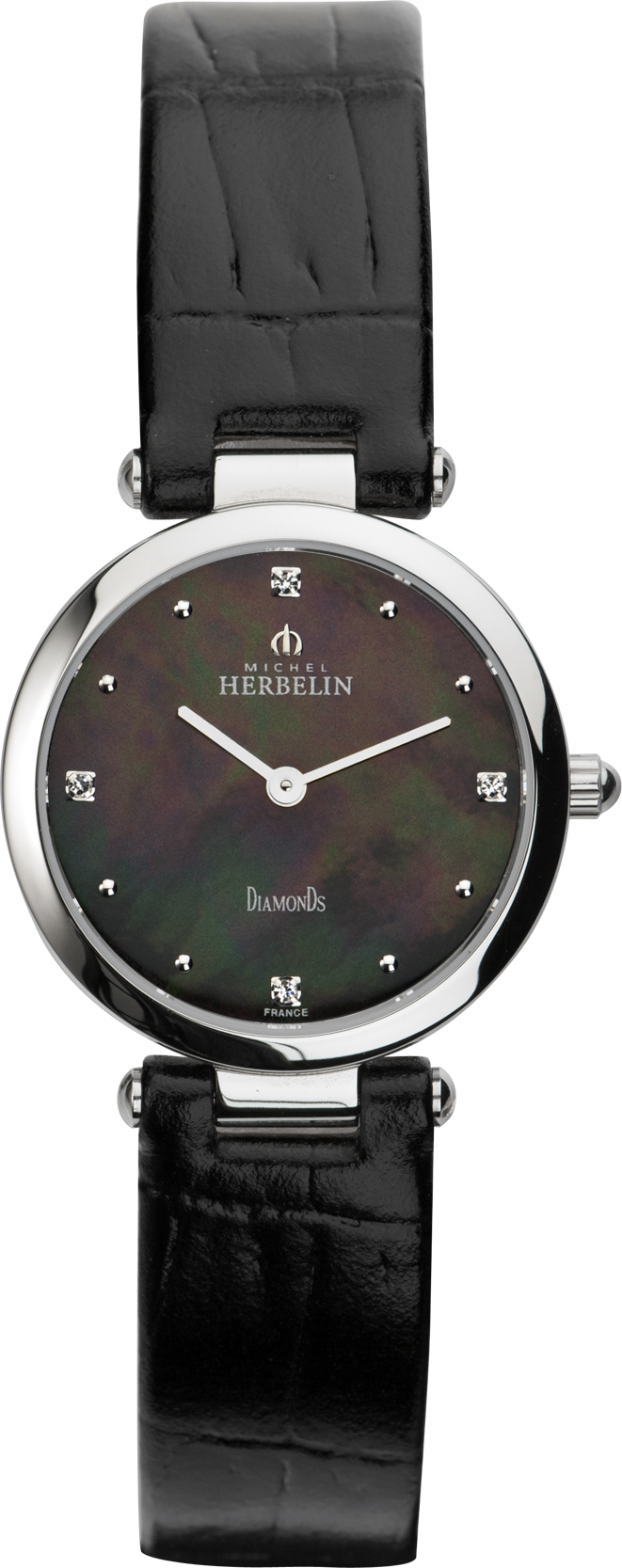 67930 - Michel Herbelin Diamond set Small sized Slimline Strap Watch