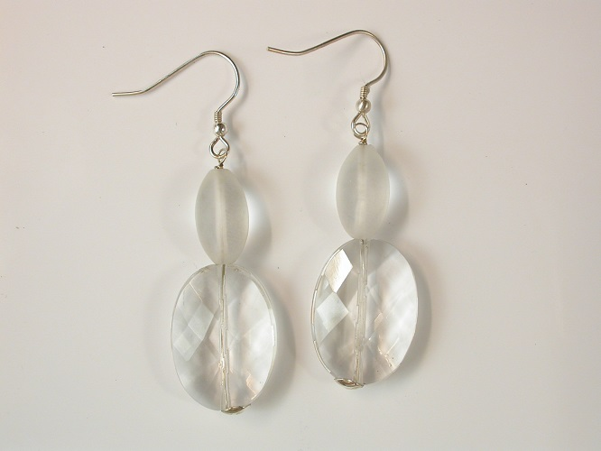 67982 - Rock Crystal Drop Earrings in Sterling Silver