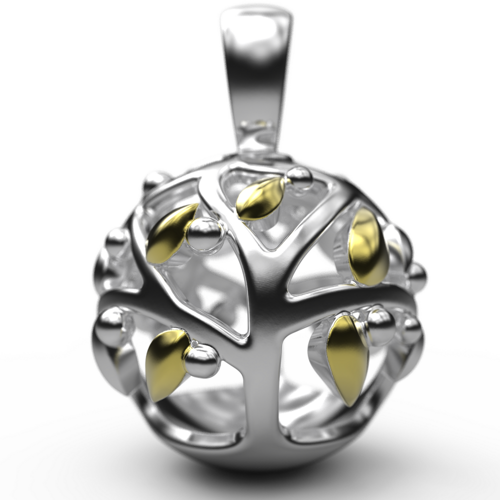 60192 - Sphere of Life 'Family Tree' Pendant in Sterling Silver