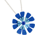68336 - Titanium Flower pendant on silver chain