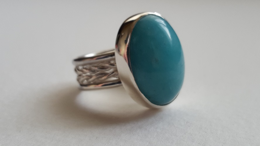 69116 - Handmade Amazonite Ring in Sterling Silver