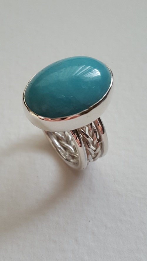 size gold with rings plated silver products sterling cut ring teardrop amazonite