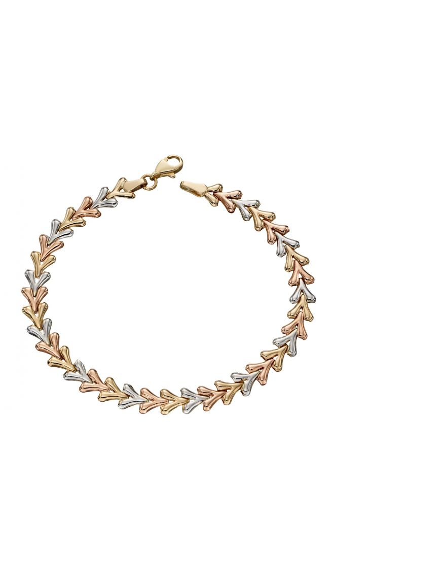 69330 - 9ct gold Multi-coloured link bracelet