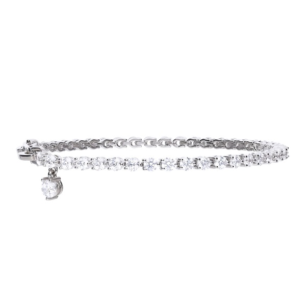 69622 - Tennis bracelet in silver set with Diamonfire cubic zirconia