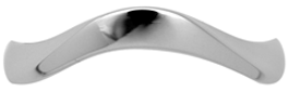 skuPCR452 - Wave Styled Wedding Band