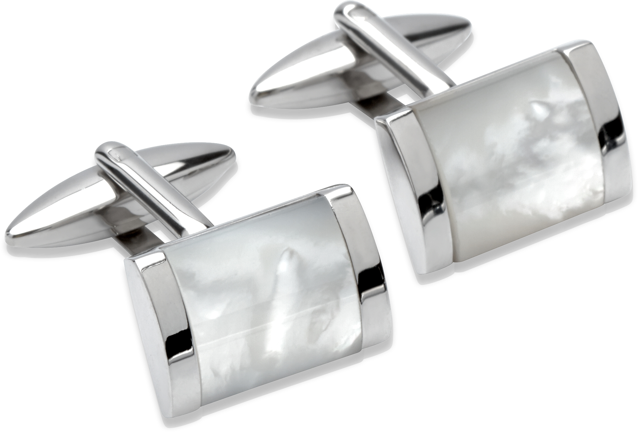 68805 - Stainless Steel Mother of Pearl Cufflinks