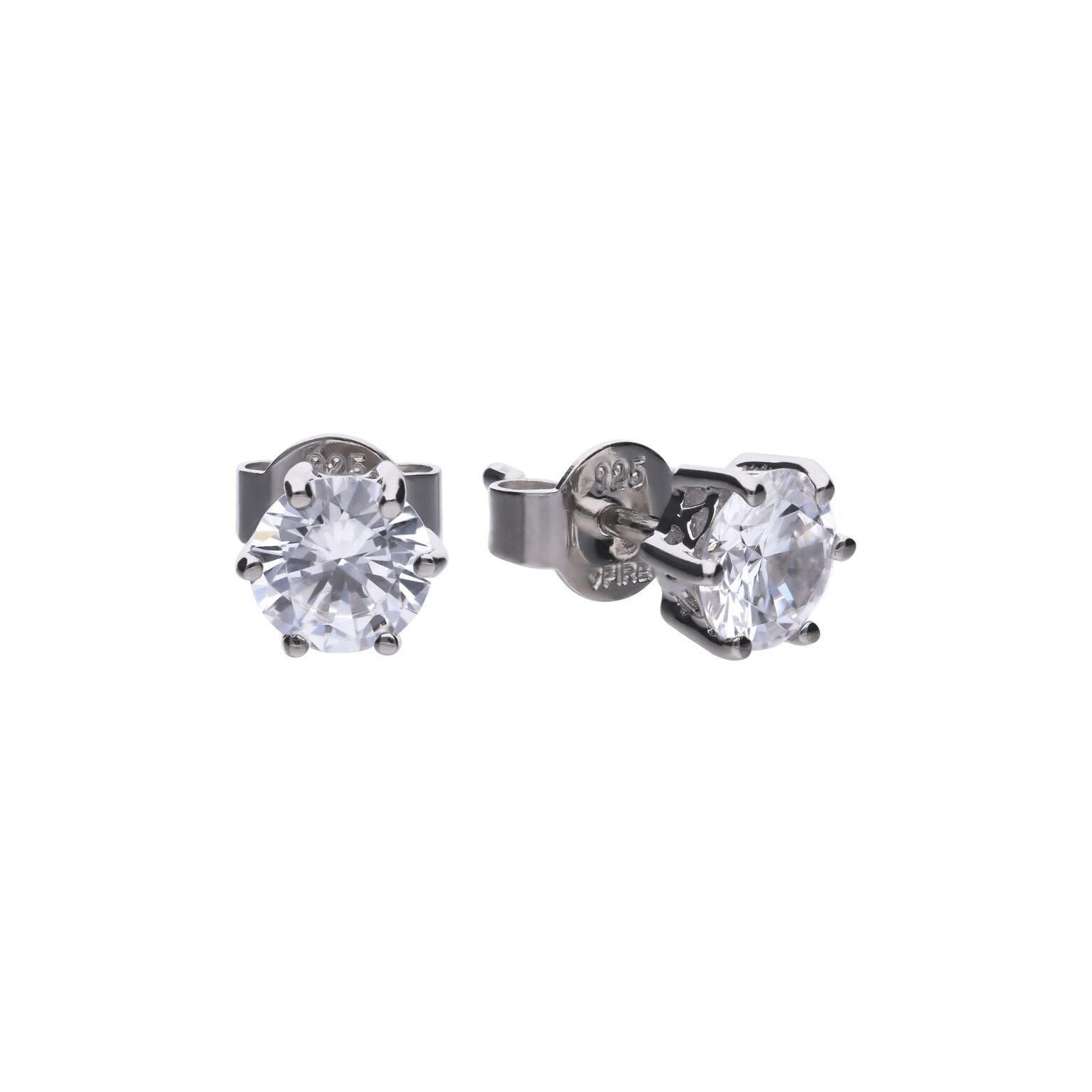 69479 - 1.5ct diamonfire Cubic Zirconia Solitaire stud earrings in silver