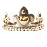 R4111-xx - Trollbeads Crown with Gold Ring