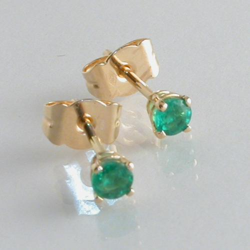 67020 - Stunning Emerald Stud Earrings in 18ct Yellow Gold