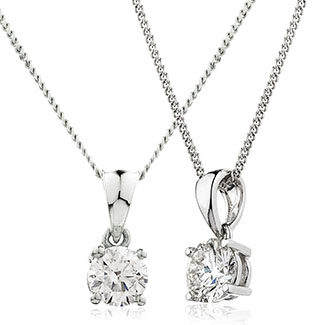 XYP2702C - Stunning 0.50ct Diamond Pendant set in 18ct white gold on Chain
