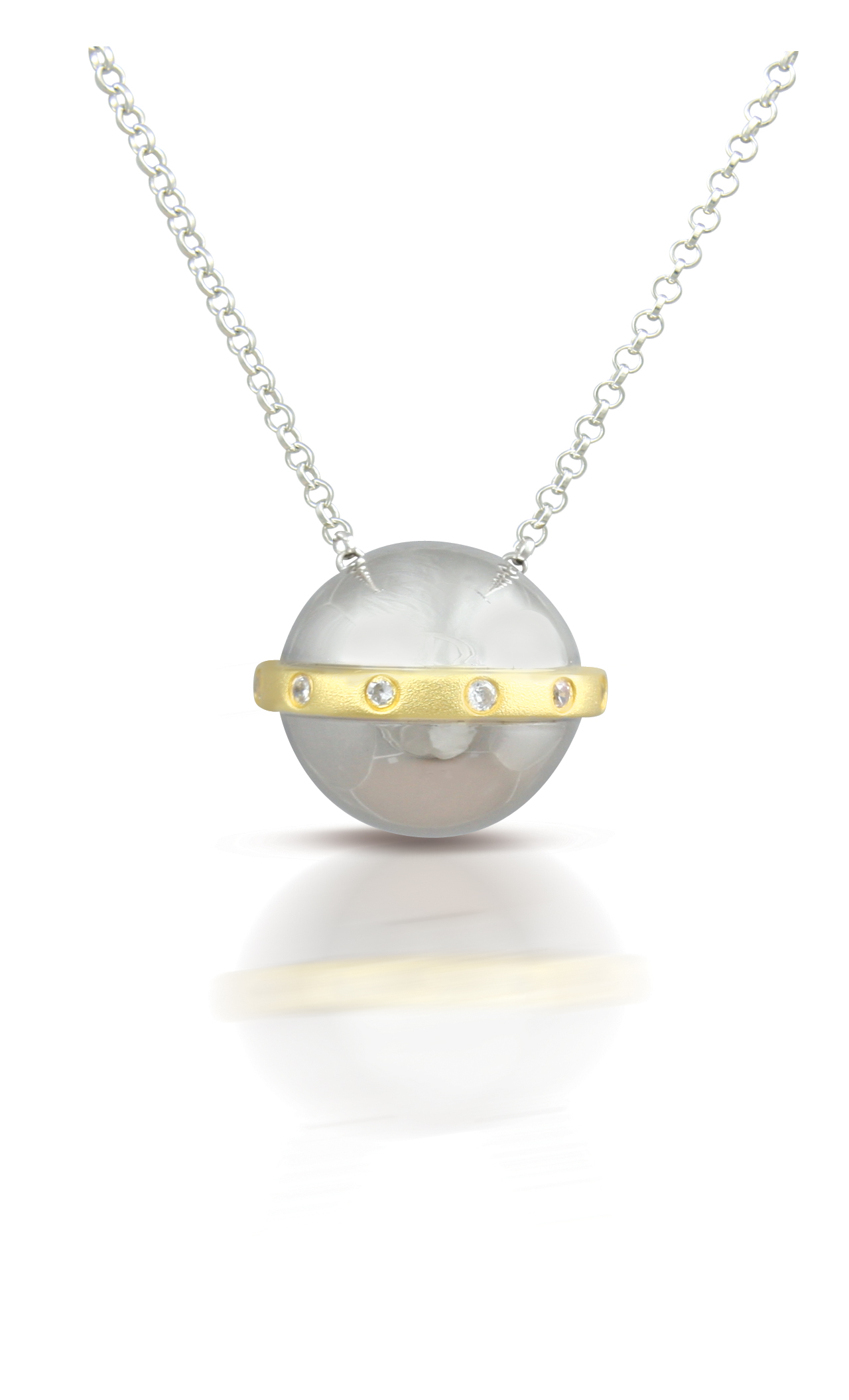 60015 - Sphere of Life 'Halo' Pendant in Sterling Silver