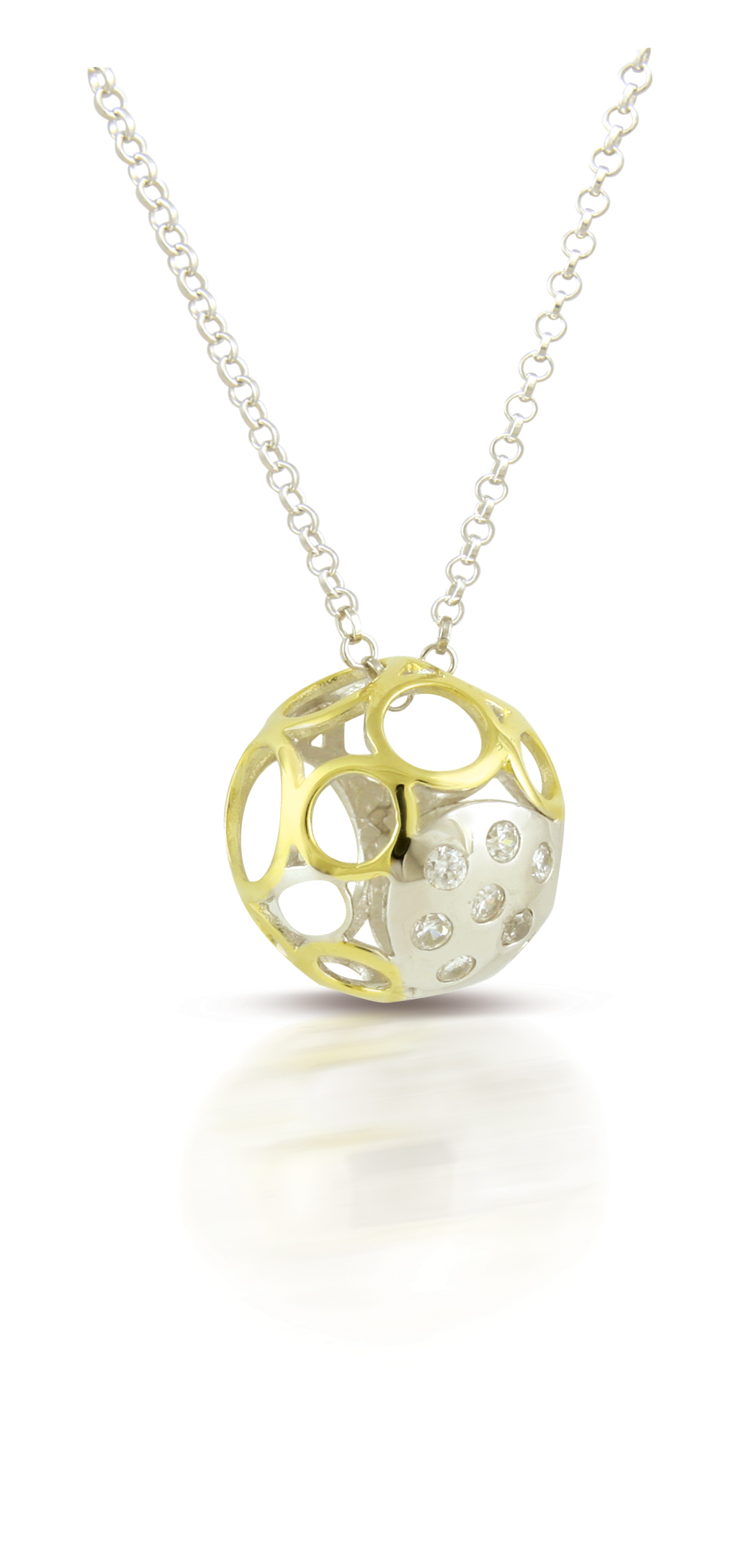 65693 - Sphere of Life 'Bubbly' Pendant in Sterling Silver