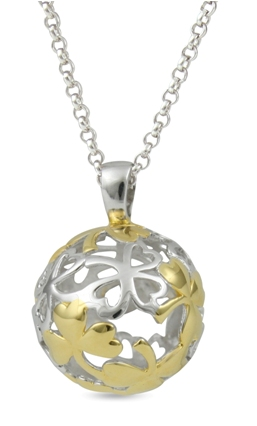 66991 - Sphere of Life 'Shamrock' or clover in Sterling Silver