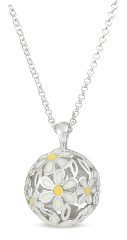 60079 - Sphere of Life'Daisies' in Sterling Silver