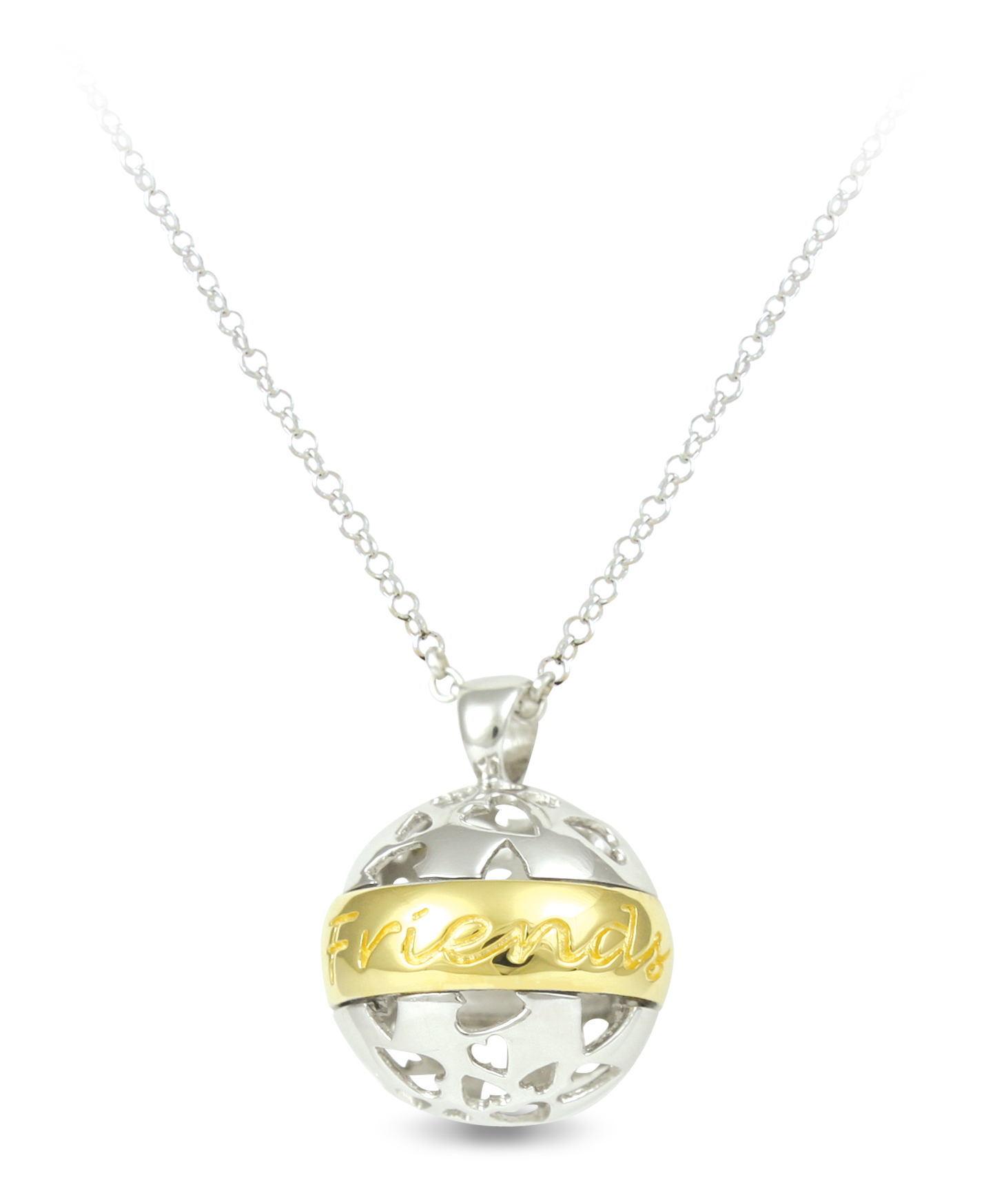 65703 - Sphere of Life 'Friends Forever' Pendant in Sterling Silver