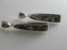 65131 - Donegal Granite Stud Earrings in Sterling SIlver
