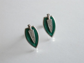 65226 - Diamond set Emerald Green Earrings