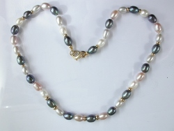 65334 - Grey & White Freshwater Cultured Pearls