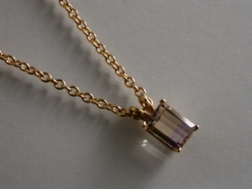 65584 - Ametrine Pendant in 9ct Gold including chain
