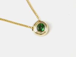 65597 - Tsavorite Garnet in  9ct Yellow Gold Pendant