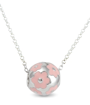67578 - Sphere of Life Cute Flower Power 'Pink' pendant in Sterling Silver