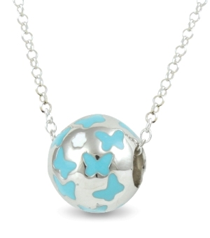 67579 - Sphere of Life Cute Springtime 'Blue' pendant in Sterling Silver