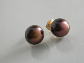 66048 - 10.6mm Freshwater Cultured Pearl Earrings in 9ct Gold