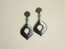 66811 - Handmade Oxidised finish Sterling Silver Earrings