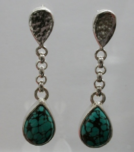 66813 - Handmade Sterling Silver Earrings set with Turquoise