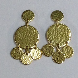 66815 - Handmade 18ct Vermeil Earrings