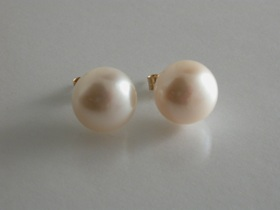 69597 - 10mm Freshwater Cultured Pearl Earrings in 9ct Gold