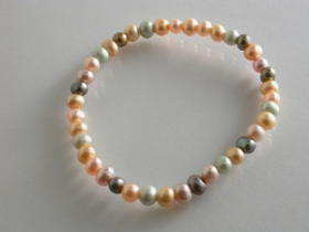 67222 - Multi coloured Freshwater Cultured Pearl Bracelet