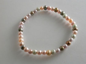 67223 - Multi coloured Freshwater Cultured Pearl Bracelet