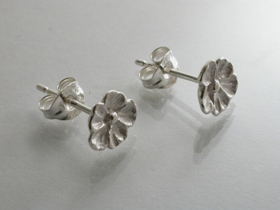 67274 - Inspired Flower Stud Earrings in Sterling Silver
